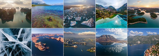 Lakes and Bays - AirPano.com • 360 Degree Aerial Panorama • 3D Virtual Tours Around the World