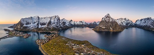 Lofoten archipelago, Norway - AirPano.com • 360 Degree Aerial Panorama • 3D Virtual Tours Around the World