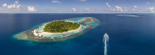 Maldives. W Retreat & Spa  - AirPano.com • 360 Degree Aerial Panorama • 3D Virtual Tours Around the World