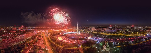 Victory Day celebrations in Moscow 2016 - AirPano.com • 360 Degree Aerial Panorama • 3D Virtual Tours Around the World