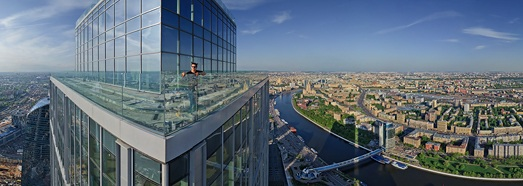 Moscow City View from the Highest Tower In Europe - AirPano.com • 360 Degree Aerial Panorama • 3D Virtual Tours Around the World
