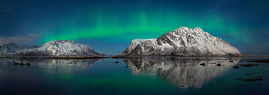 Northern lights in Norway - AirPano.com • 360 Degree Aerial Panorama • 3D Virtual Tours Around the World