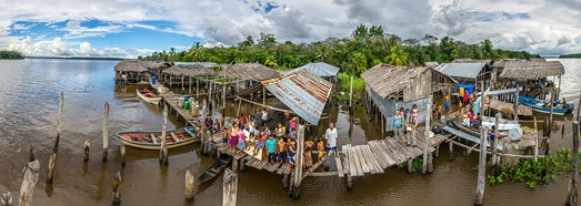 Delta of the Orinoco River, Venezuela - AirPano.com • 360 Degree Aerial Panorama • 3D Virtual Tours Around the World