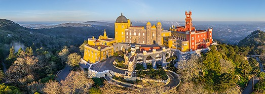 Pena National Palace, Sintra, Portugal - AirPano.com • 360 Degree Aerial Panorama • 3D Virtual Tours Around the World