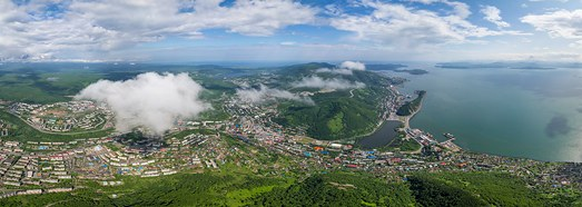 Petropavlovsk-Kamchatsky, Russia - AirPano.com • 360 Degree Aerial Panorama • 3D Virtual Tours Around the World