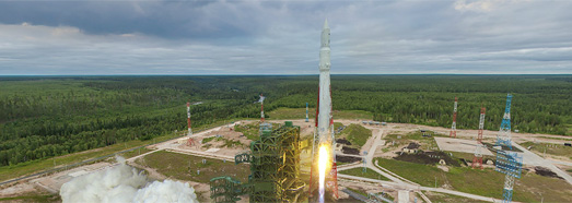 "First launch of the ""Angara"" rocket, Plesetsk Cosmodrome, Russia - AirPano.com • 360 Degree Aerial Panorama • 3D Virtual Tours Around the World"