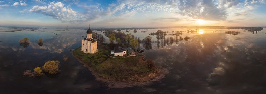 Church of the Intercession of the Holy Virgin on the Nerl River, Russia - AirPano.com • 360 Degree Aerial Panorama • 3D Virtual Tours Around the World