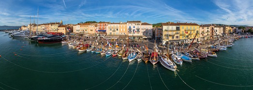 Cote d'Azur. Saint-Tropez and Saint-Maxime - AirPano.com • 360 Degree Aerial Panorama • 3D Virtual Tours Around the World