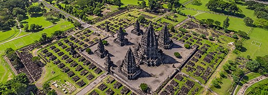 Prambanan Temple Compounds, Indonesia - AirPano.com • 360 Degree Aerial Panorama • 3D Virtual Tours Around the World