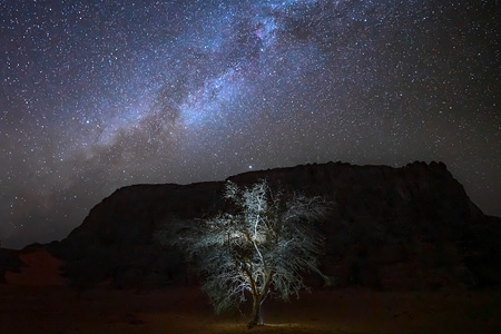 Milky Way above Sahara Desert