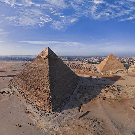 Great Pyramids of Giza in Egypt