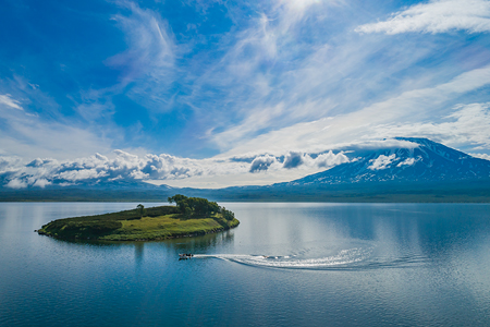 Kronotskoye Lake. The biggest lake of Kamchatka, Russia