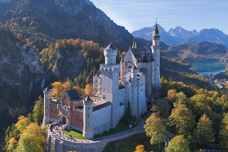 Neuschwanstein Castle and St. Coloman Church, Germany