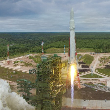 "First launch of the ""Angara"" rocket, Plesetsk Cosmodrome, Russia"