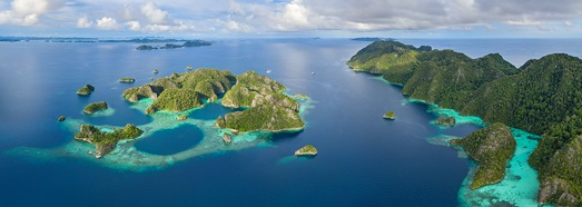 Trip to Raja Ampat archipelago, Indonesia - AirPano.com • 360 Degree Aerial Panorama • 3D Virtual Tours Around the World