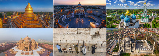 Religions of the world - AirPano.com • 360 Degree Aerial Panorama • 3D Virtual Tours Around the World