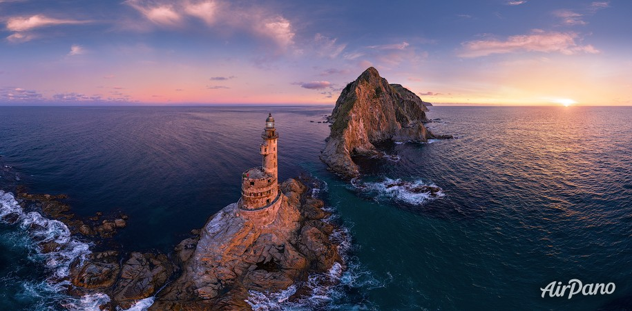 Aniva Lighthouse. Sakhalin Island, Russia