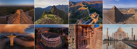 New 7 Wonders of the World - AirPano.com • 360 Degree Aerial Panorama • 3D Virtual Tours Around the World
