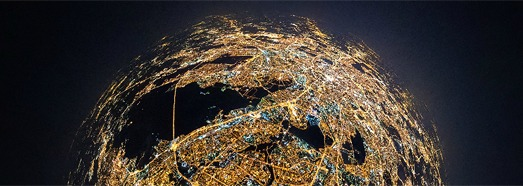 Night flight in stratosphere over the Moscow - AirPano.com • 360 Degree Aerial Panorama • 3D Virtual Tours Around the World