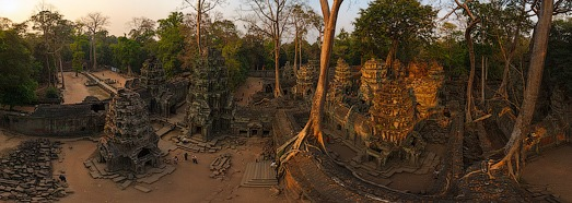 Ta Prohm temple, Angkor, Cambodia - AirPano.com • 360 Degree Aerial Panorama • 3D Virtual Tours Around the World