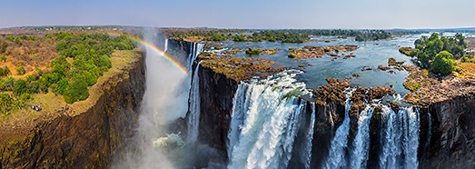 Victoria Falls, Zambia-Zimbabwe. Part I - AirPano.com • 360 Degree Aerial Panorama • 3D Virtual Tours Around the World