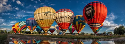 The Golden Ring of Russia Air Balloon festival - AirPano.com • 360 Degree Aerial Panorama • 3D Virtual Tours Around the World