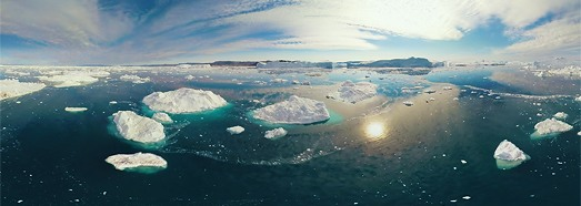 Icebergs of Greenland. Part VI - AirPano.com • 360 Degree Aerial Panorama • 3D Virtual Tours Around the World