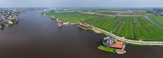 Windmills of Holland. Part I - AirPano.com • 360 Degree Aerial Panorama • 3D Virtual Tours Around the World