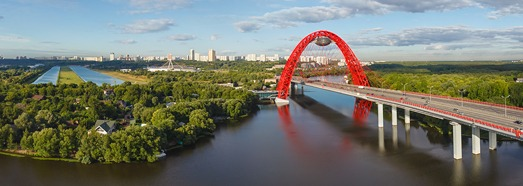 Zhivopisniy Bridge, Moscow - AirPano.com • 360 Degree Aerial Panorama • 3D Virtual Tours Around the World