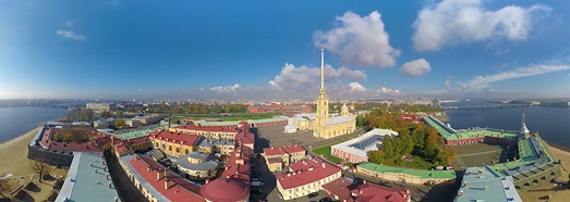 Peter and Paul fortress, Saint Petersburg, Russia - AirPano.com • 360 Degree Aerial Panorama • 3D Virtual Tours Around the World