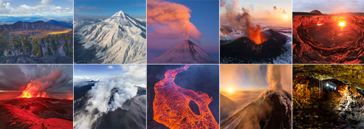 Best Volcanoes around the World from above - AirPano.com • 360 Degree Aerial Panorama • 3D Virtual Tours Around the World