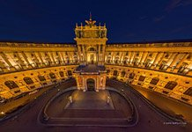 Hofburg Palace at night