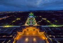Schönbrunn Palace and Park at night