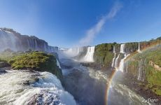 Rainbow above Iguazu Falls