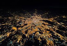 Night flight to stratosphere over the Moscow #7