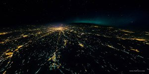 Night flight to stratosphere over the Moscow #1