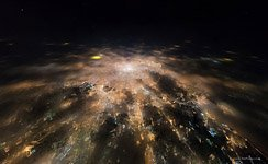 Night flight to stratosphere over the Moscow #4