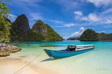Boat at Wayag islands, Raja Ampat, Indonesia #2