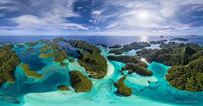 Wayag islands, Raja Ampat, Indonesia, aerial photo #10