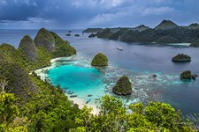 Wayag islands view from the top of the hill, Raja Ampat, Indonesia #1