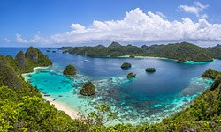 Wayag islands view from the top of the hill, Raja Ampat, Indonesia #2