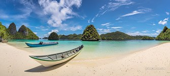 Boats at Wayag islands, Raja Ampat, Indonesia #3