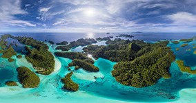 Wayag islands, Raja Ampat, Indonesia, aerial photo #11
