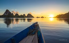 Sunset view from the boat, Indonesia