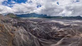 Cold lava fields of the Bromo volcano