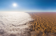 Mist above the Namib Desert #1