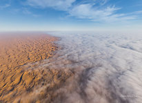 Mist above the Namib Desert #2