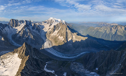 View from the Aiguille Verte