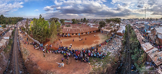 Above the railways in Kibera #1