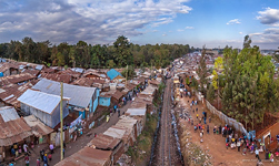 Above the railways in Kibera #3